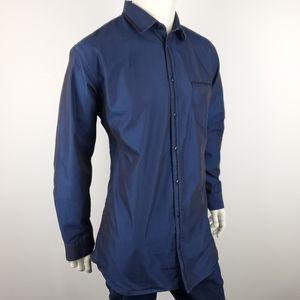 Kenneth Cole Unlisted Blue Metallic Shirt Size XLT